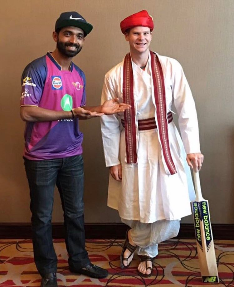 Steve Smith Dressed in Maharashtrian Style