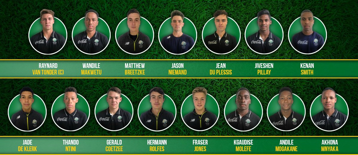 South Africa U 19 World Cup Squad-2018