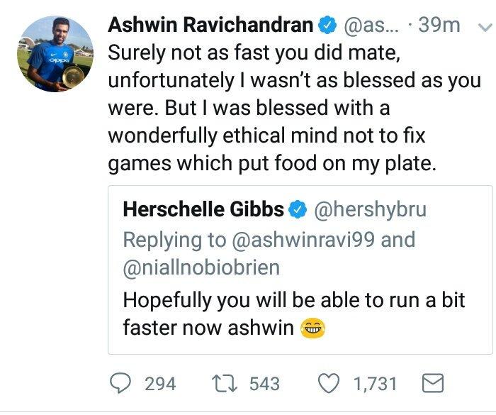 Ashwin vs Gibbs