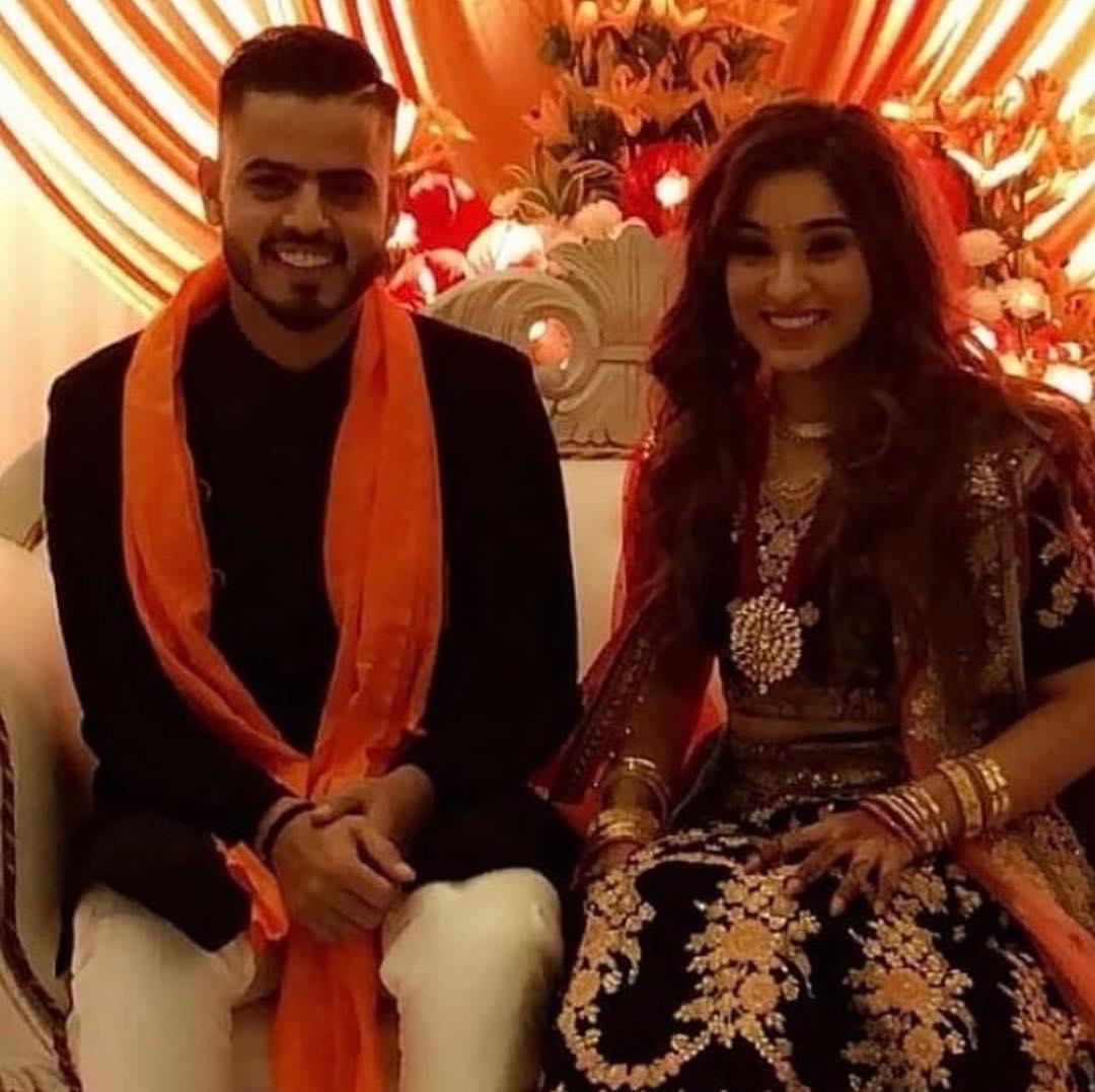 Nitish Rana Sacchi Marwah Engagement Pics-2018