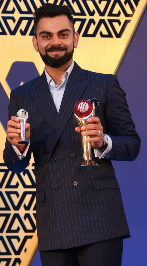 Virat Kohli receives Polly Umrigar Award
