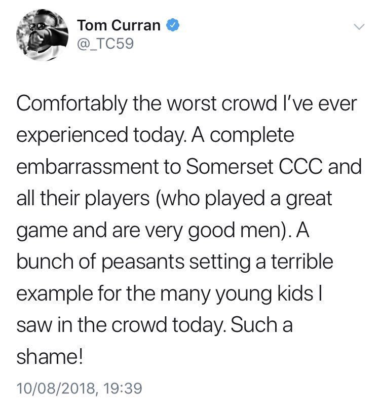 Tom Curran Somerset Crowd