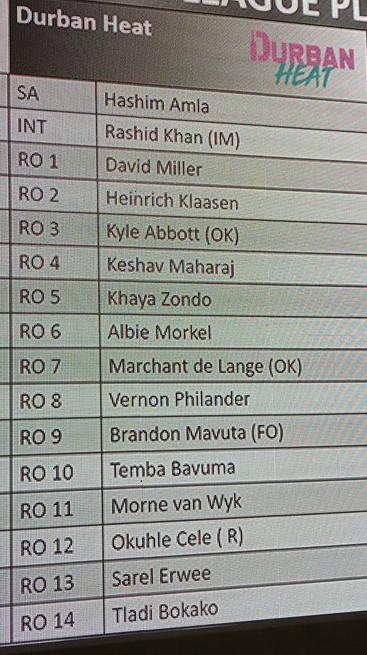 Durban Heat Squad MSL 2018
