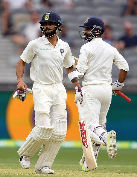 Virat Kohli and Ajinkya Rahane