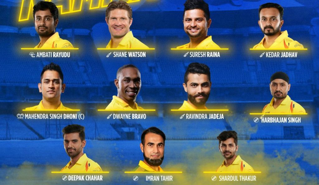 CSK Playing XI vs RCB 2019