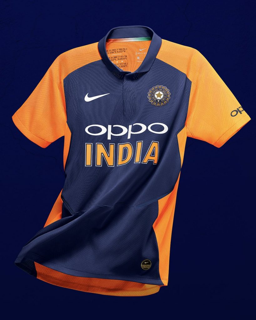 New India Cricket Away Kit World Cup-2019