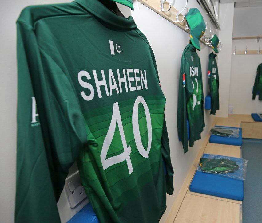 Back of Pakistan WC Kit 2019