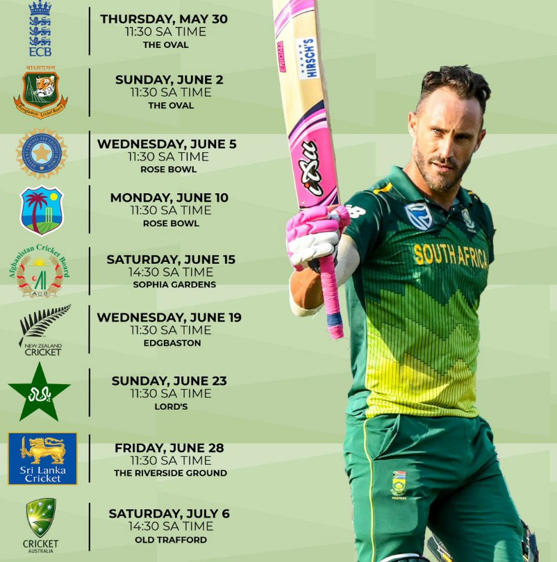Proteas Fixtures World Cup