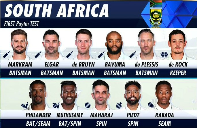Proteas line up against India-2019