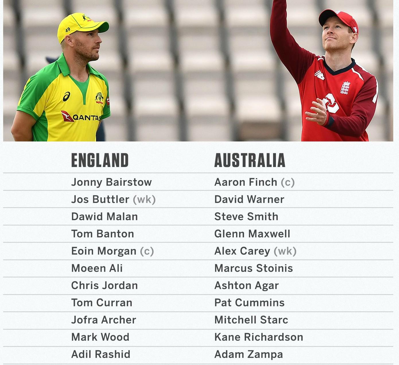 England vs Australia First T20I line Ups
