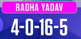 Radha Yadav vs Trailblazers 9 November 2020