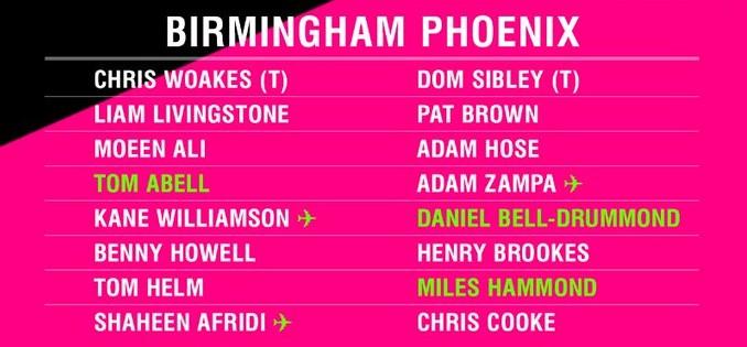 Birmingham Phoenix Mens squad 2021 (1)