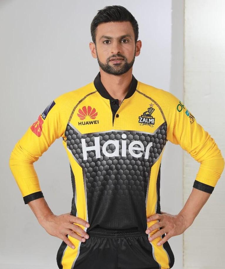 Shoaib Malik Peshawar Zalmi Shirt 2021