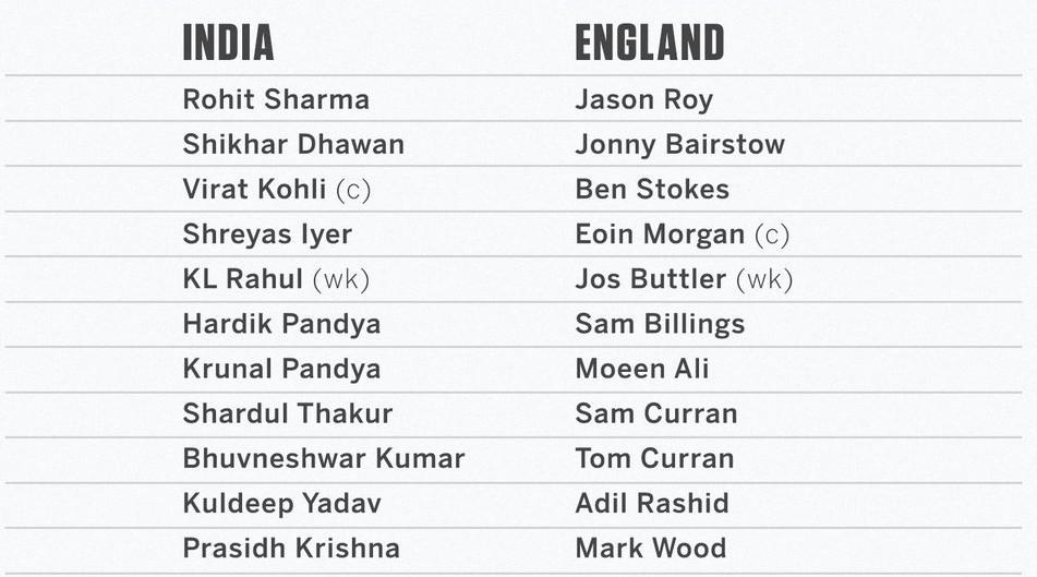 India vs England First ODI Line Ups 2021 (1)