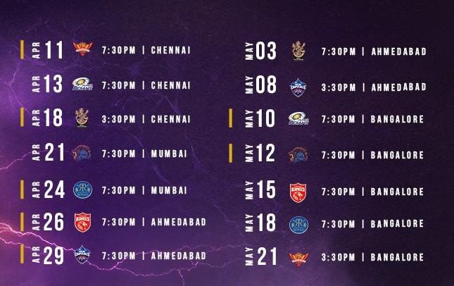 Kolkata Knight Riders Fixtures 2021 (1)