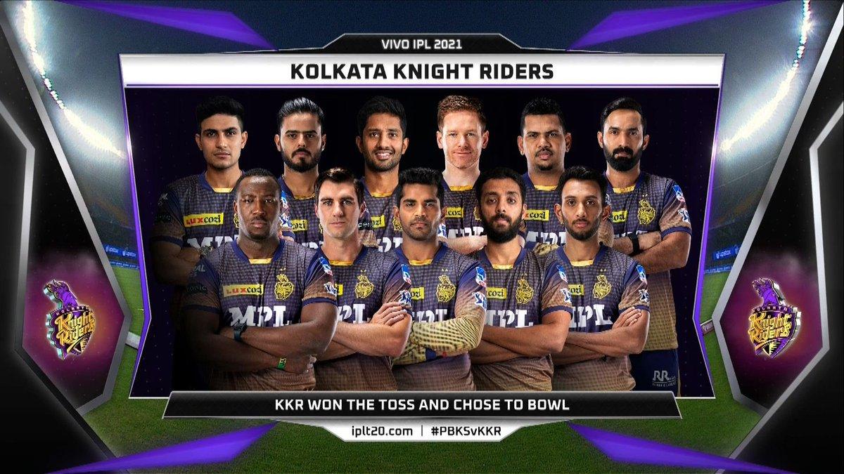 Kolkata Knight Riders Line up vs PBKS