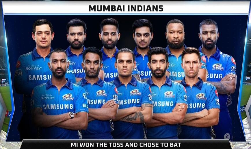 Mumbai Indians Line up vs Delhi Capitals 2021 (1)