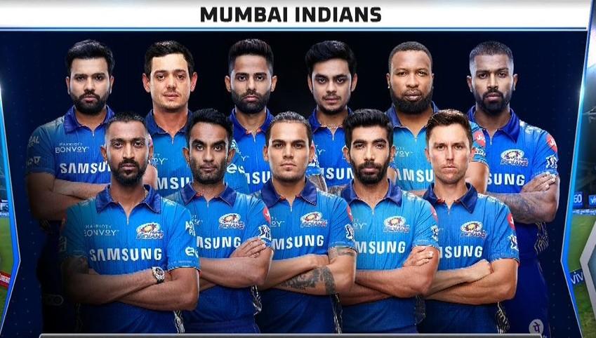 Mumbai Indians line up vs Punjab (1)