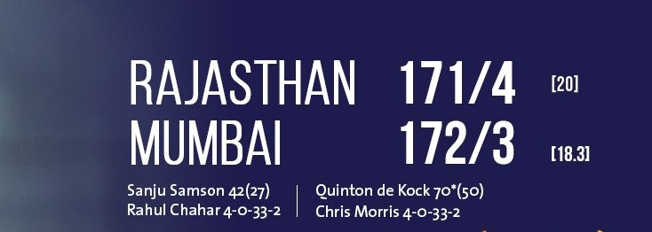 Rajasthan Royals vs Mumbai Indians scorecard (1)
