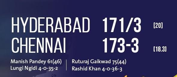 Sunrisers vs Chennai scorecard (1)