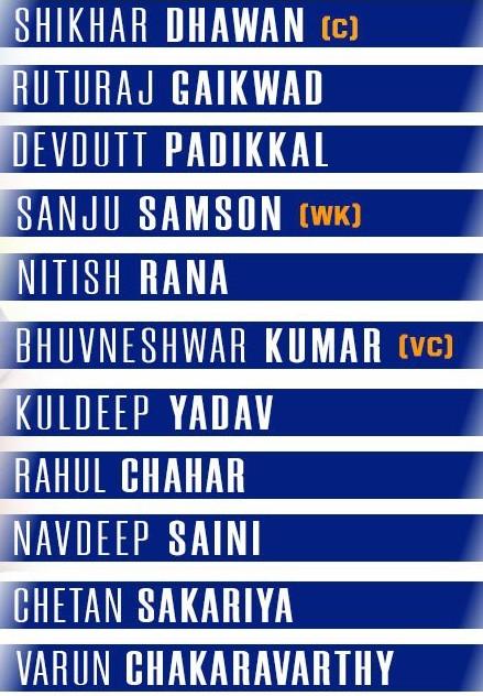 India Playing XI