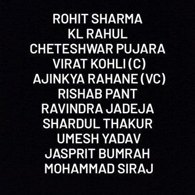 India Playing XI vs England at Oval 2021 (1)