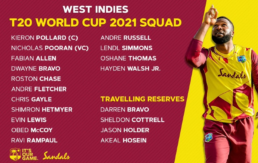 West Indies T20 World Cup Squad 2021