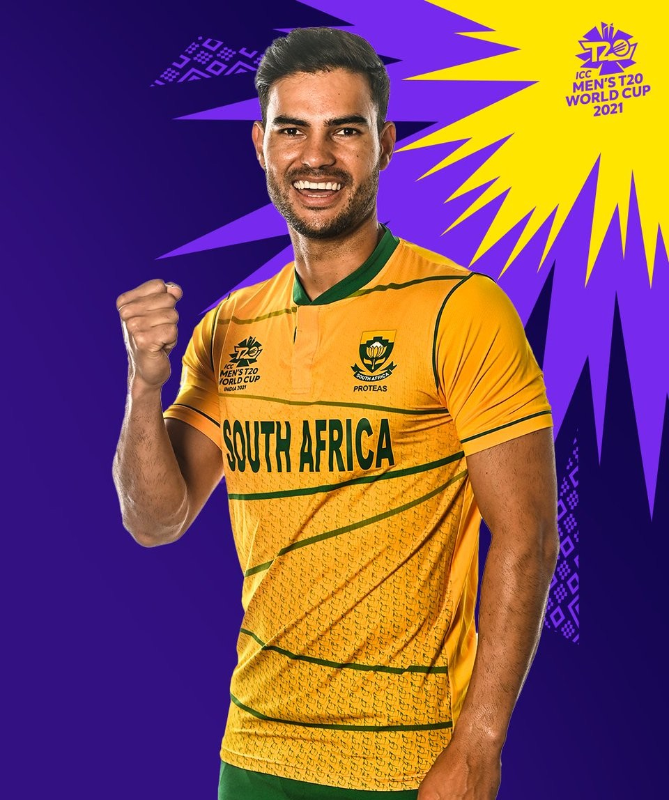 New South Africa T20 World Cup Yellow Shirt 2021 (1)